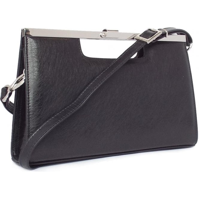 Peter Kaiser Wye Women's Evening Bag In Black Graffiti Leather