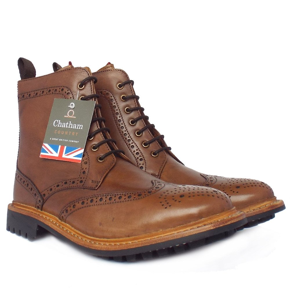 chatham country york s high ankle brogue boots in