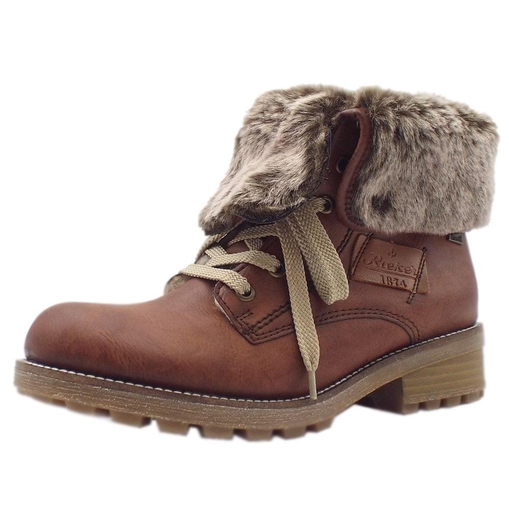 sports shoes 49b3c 55ba3 Rieker Z0420-24 Husky RiekerTEX Lace-Up Winter Boots in Brandy