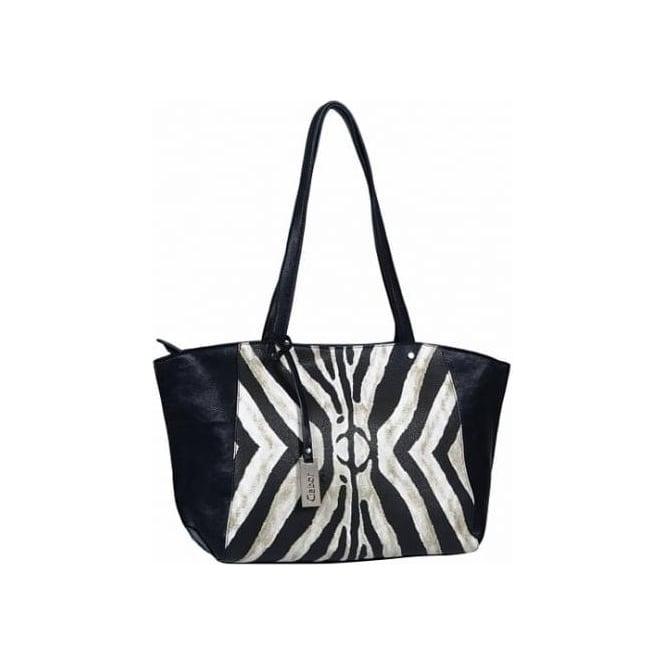 be060227f78c Zebra Women  039 s Fashion Tote Bag in Black Animal Print