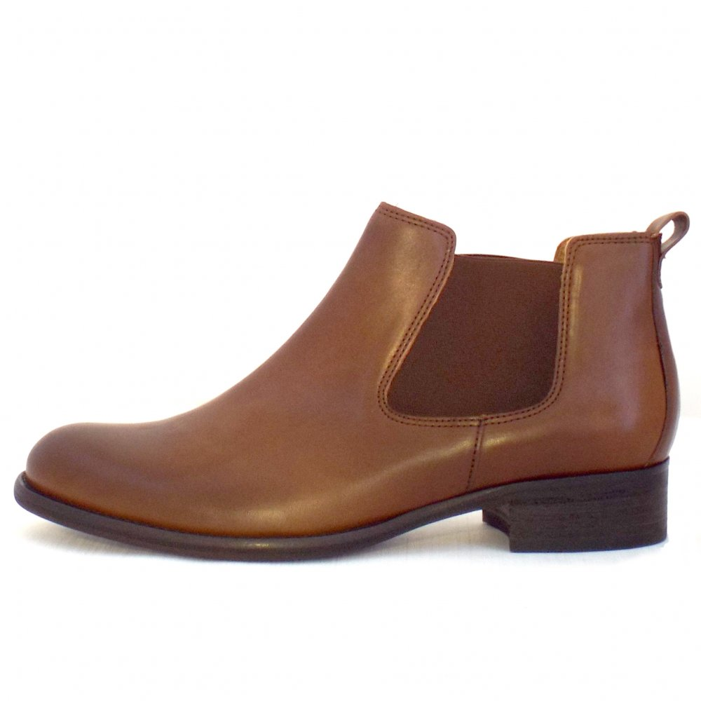 Brown Ankle Leather Ladies Shoes