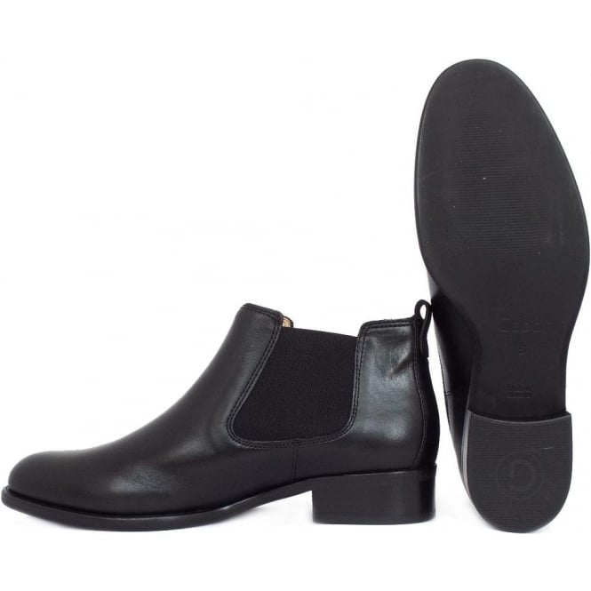 4577c22ad3dbd Gabor Zodiac Ladies Pull On Ankle Boots in Black Leather