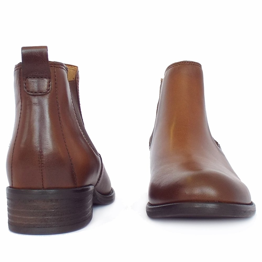 Gabor Short Boots | Zodiac Ladies Brown Leather Ankle Boots | Mozimo
