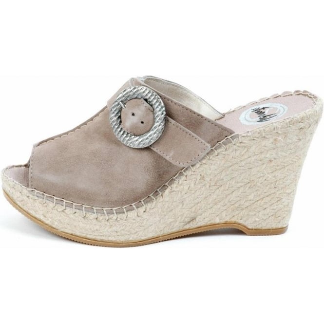 fe598898a46 Vidorreta Zuco high wedge peep toe espadrilles